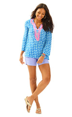 Renato Tunic - Brilliant Blue Tripped Out Dinner Tunic