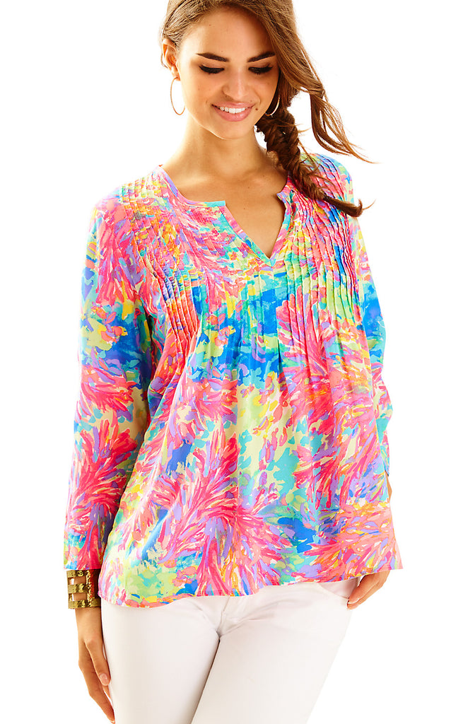 Daylen Tunic - Multi Palm Beach Coral