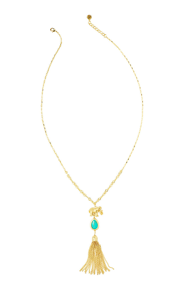 Trunks Up Necklace - Gold Metallic