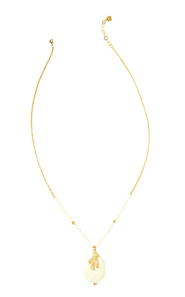 Lovers Coral Necklace - Resort White