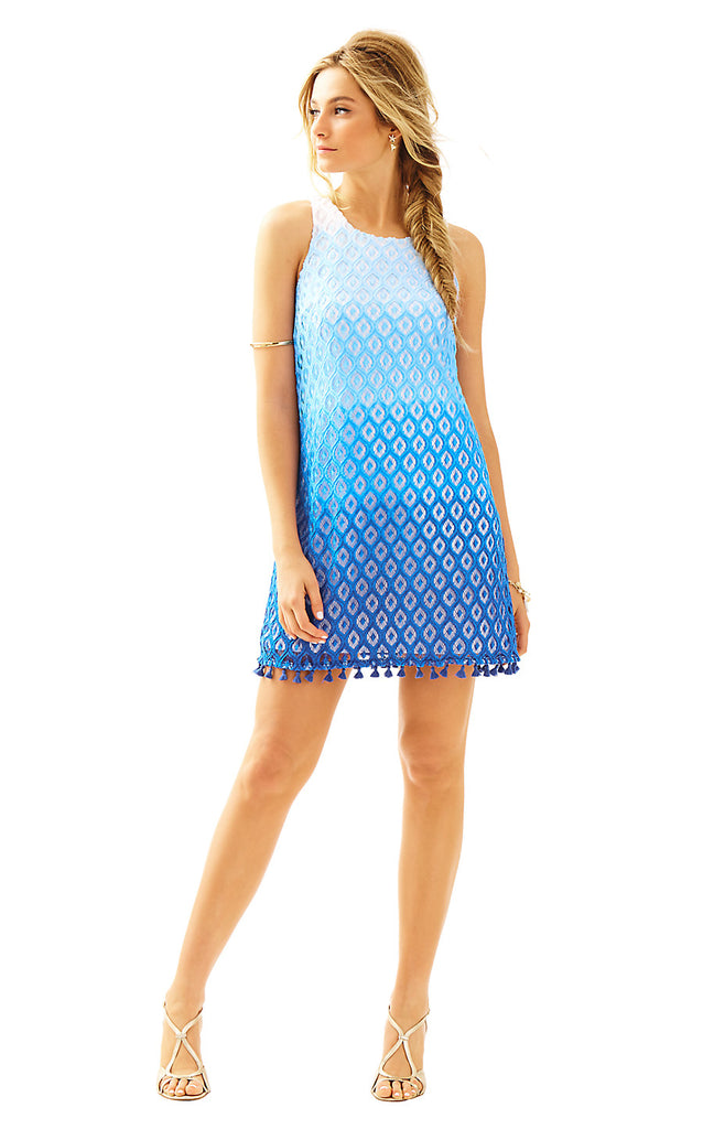 Marquette Shift - Brilliant Blue Island Time Lace Ombre En