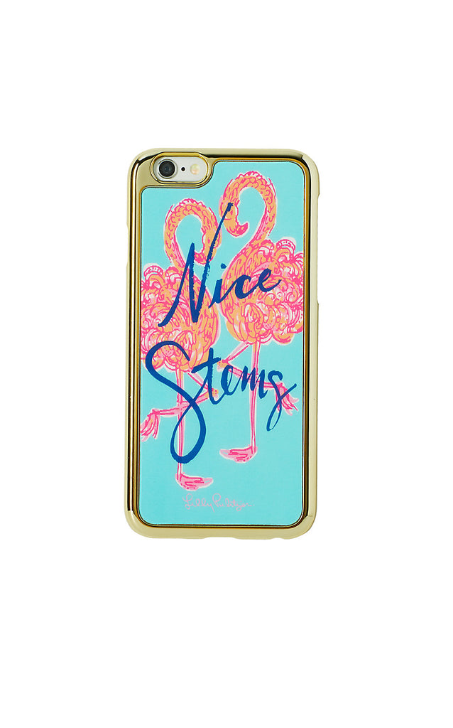 iPhone 6 Luxe Cover - Minty Fresh Flamingo Motif Tech