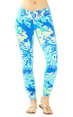 Weekender Legging - Brilliant Blue Wade And Sea