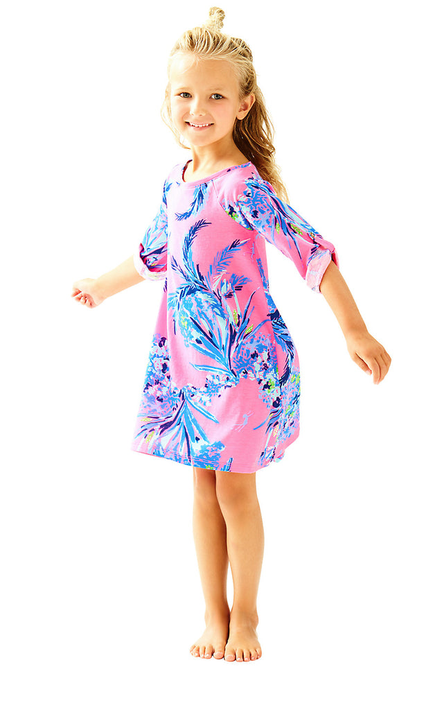 Girls Mini Surfcrest Dress - Tiki Pink Out On A Limb