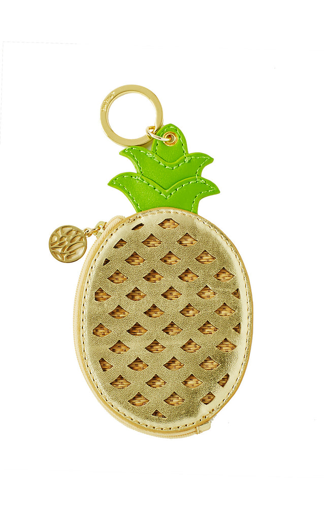 Pineapple Coin Purse - Gold Metallic