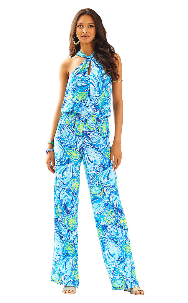 Emmy Jumpsuit - Sparkling Blue Oh Shucks