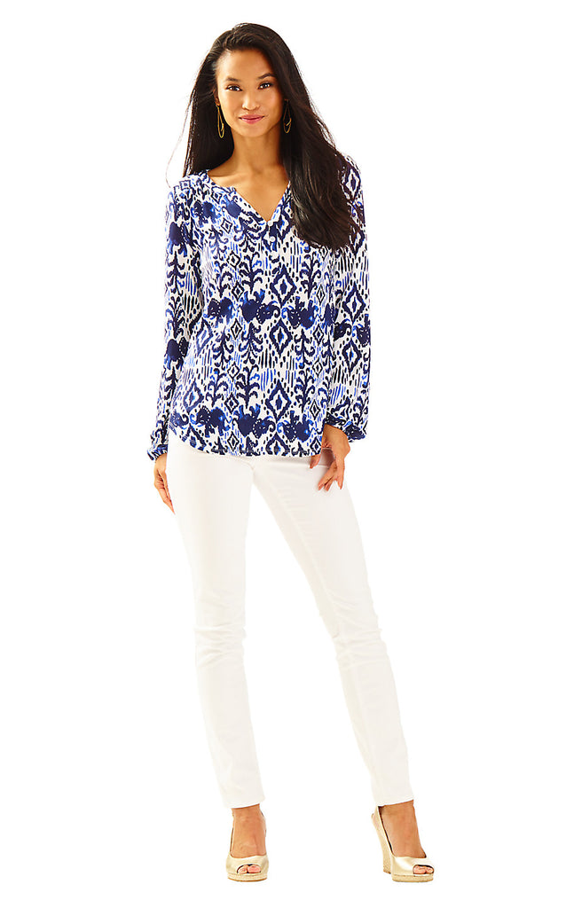 Lilias Top - Bright Navy Tons Of Fun