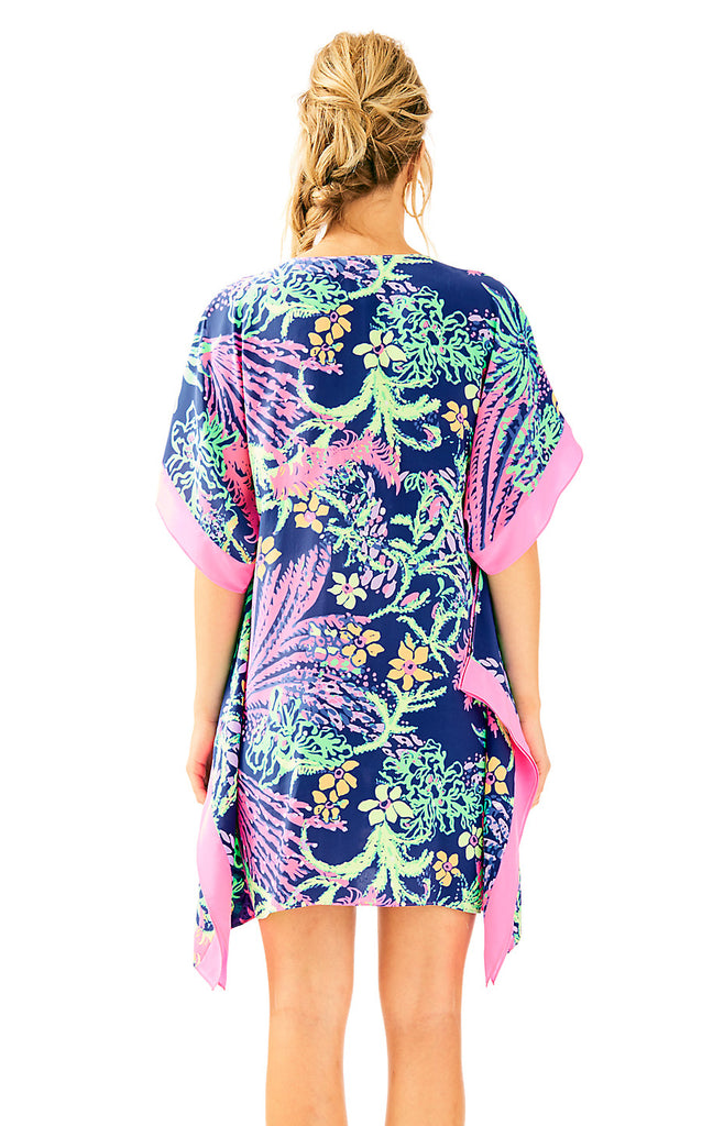 Julie Silk Caftan - Indigo All A Glow
