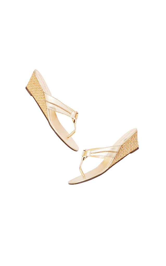 Mckim Wedge - Gold Metallic