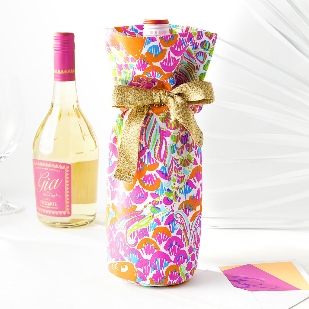 Wine Tote - Ocean Jewels