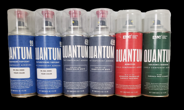 Quantum99 2K Spray Can Kit (coverage for (1) up to 175 HP Motor)