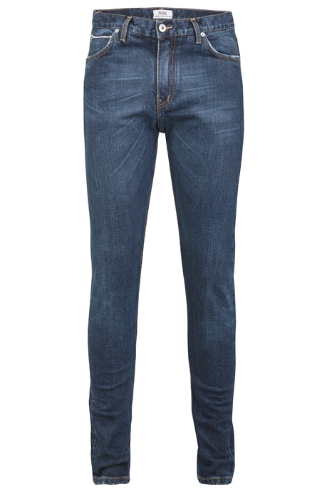 SELVEDGE DENIM SKINNY - Washed Blue, Jeans - ROE