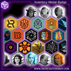 INGRESS MEDALS BADGES