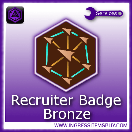 Ingress recruiter medal bronze,buy ingress recruiter medals