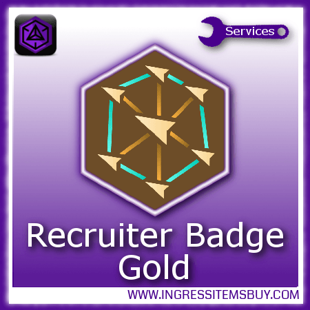 Ingress recruiter medal gold,buy ingress recruiter medals
