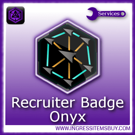 Ingress recruiter medal Onyx,buy ingress recruiter medals