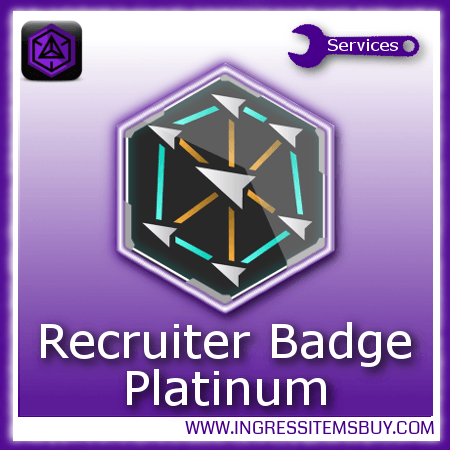 Ingress recruiter medal platinum,buy ingress recruiter medals