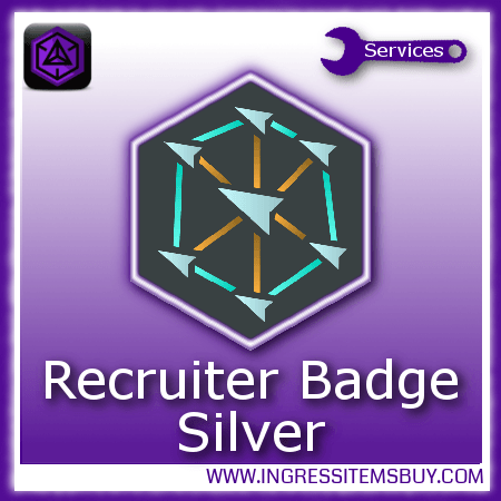 Ingress recruiter medal silver,buy ingress recruiter medals