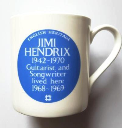 English Heritage Blue Plaque Jimi Hendrix Mug