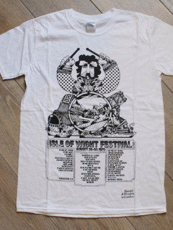 Hendrix T-Shirt (Men's) - Isle of Wight Festival 1970 Lineup