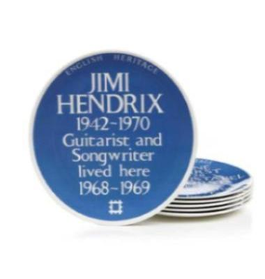 English Heritage Blue Plaque Jimi Hendrix Plate
