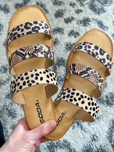 Cala Animal Print Sandals - Maple Row Boutique