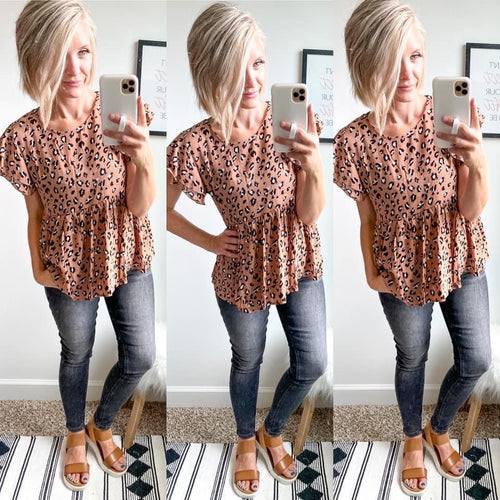 Leopard Date Night Top - Maple Row Boutique