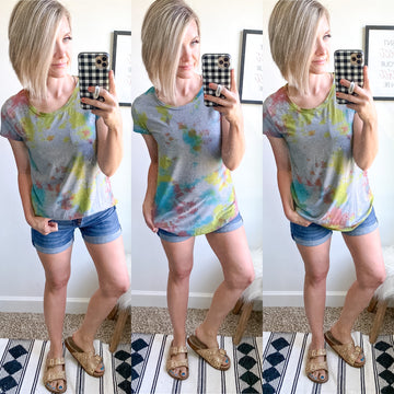 Grey Tie Dye Perfect Tee