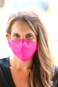 Hot Pink Face Mask - Maple Row Boutique