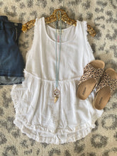 Load image into Gallery viewer, White Frayed Callie Tanks - Maple Row Boutique