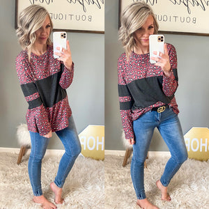 Red Leopard Lover Top - Maple Row Boutique