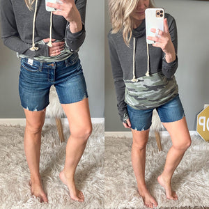 Judy Blue Mid Thigh Shorts - Maple Row Boutique