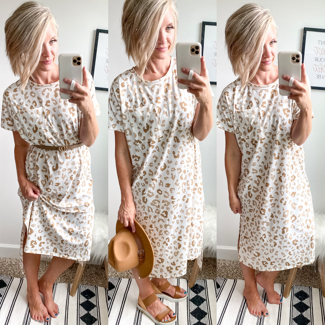 Leopard Midi Dress - Maple Row Boutique