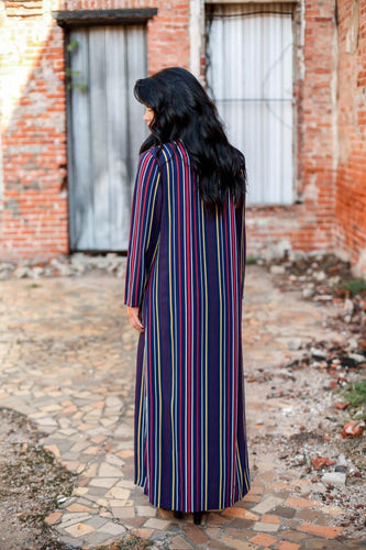 Stripe Duster - Maple Row Boutique