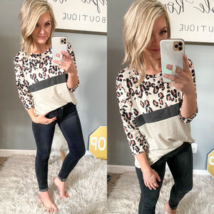 Leopard is Life Top - Maple Row Boutique