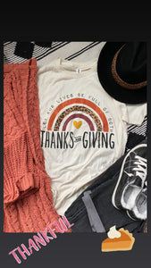 Thanks&Giving Tee - Maple Row Boutique