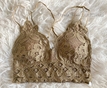 Golden Brown Lace Bralette