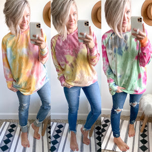Tie Dye French Terry Tunic - Maple Row Boutique