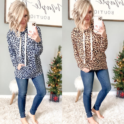 Leopard Hoodie - Maple Row Boutique