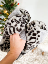 Load image into Gallery viewer, Grey Leopard CrissCross Slippers - Maple Row Boutique