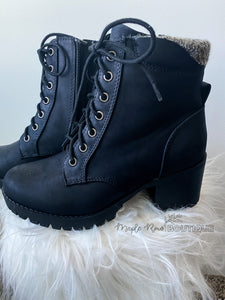 Military Combat Bootie - Maple Row Boutique