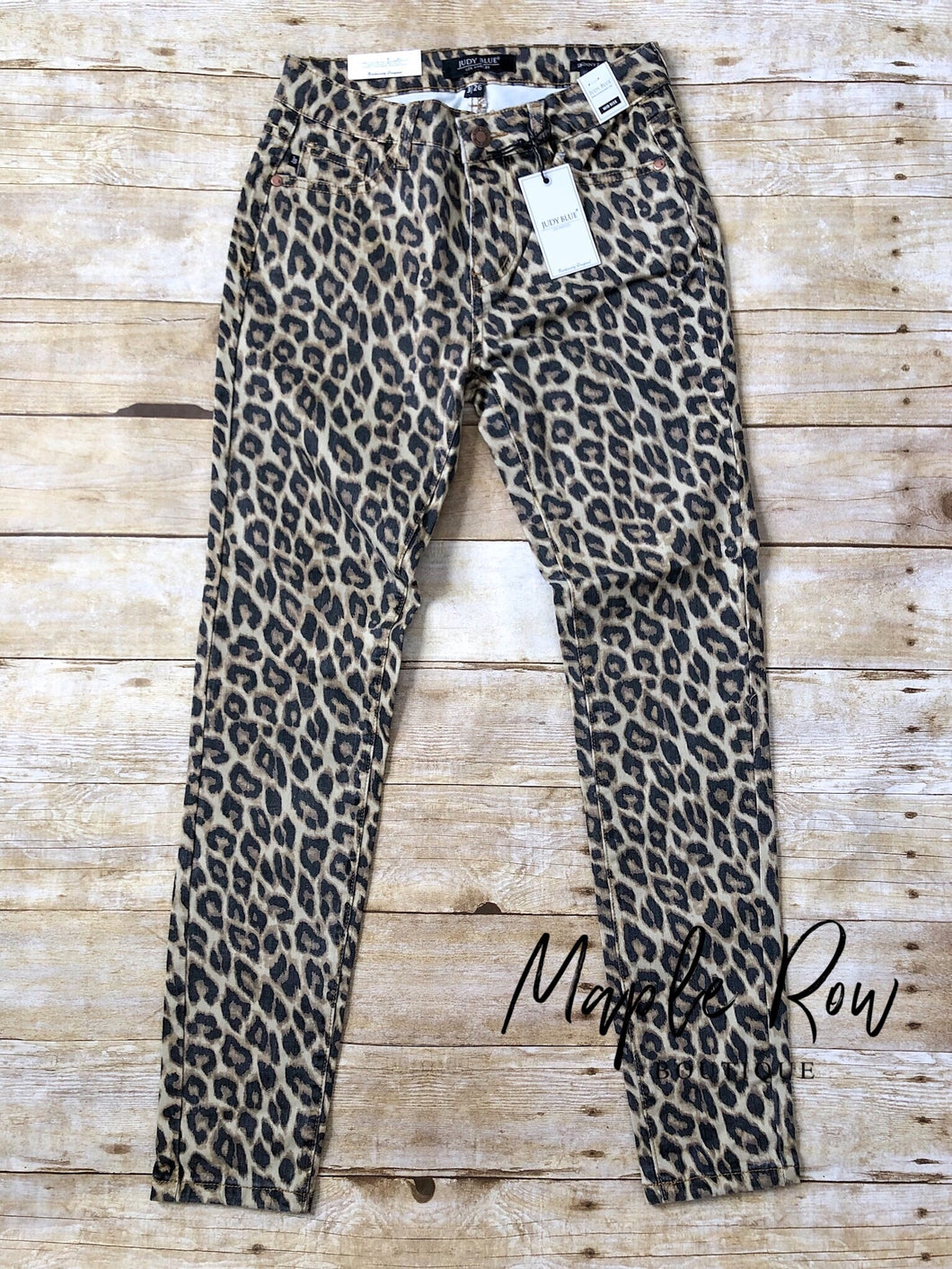 Leopard Judy Blue Denim - Maple Row Boutique