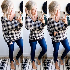 Buffalo Plaid Pullover - Maple Row Boutique