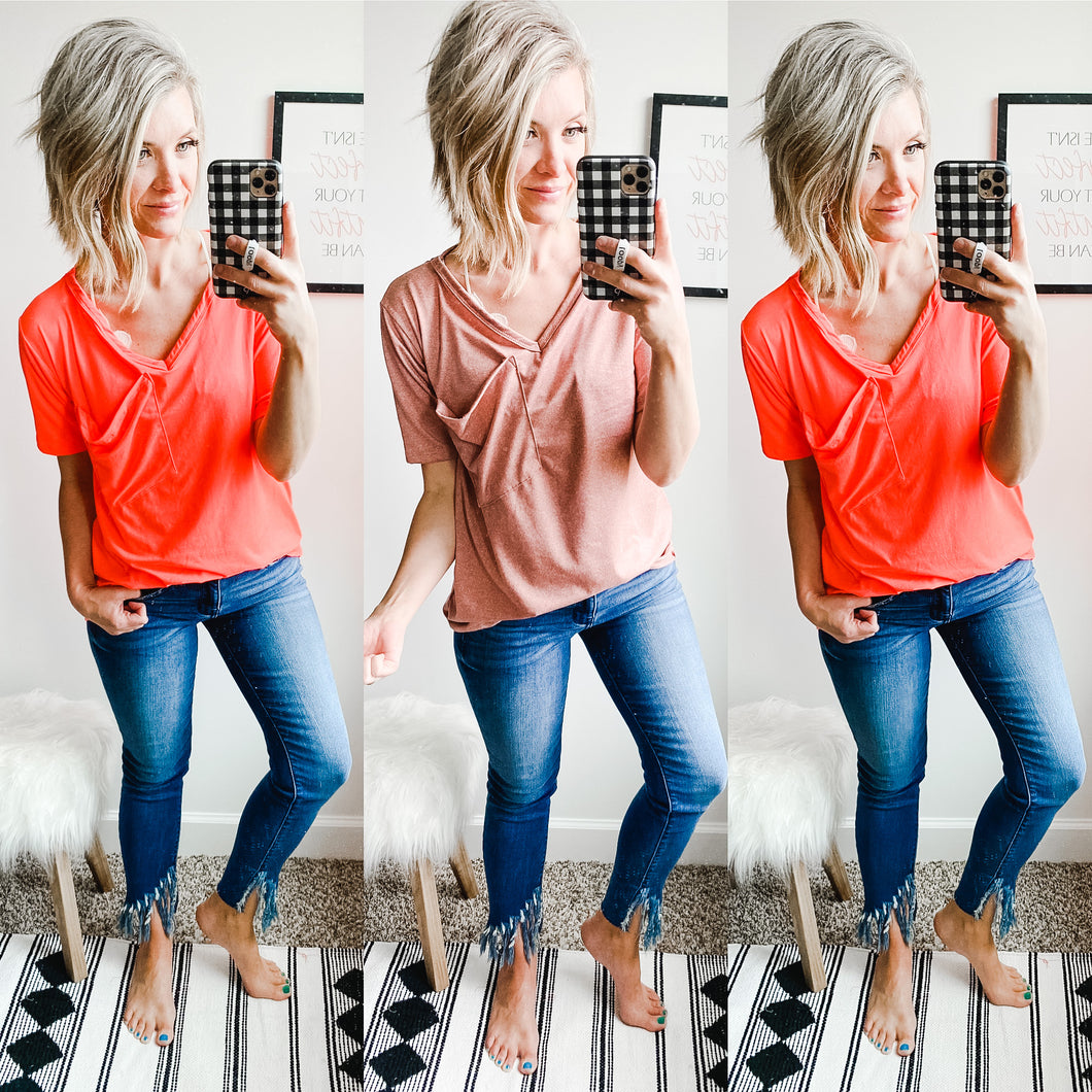 Slouchy Pocket Tee - Maple Row Boutique