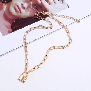 The Morgan Lock Necklace - Maple Row Boutique