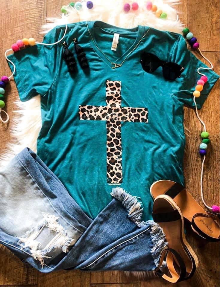 Leopard Distressed Cross Preorder
