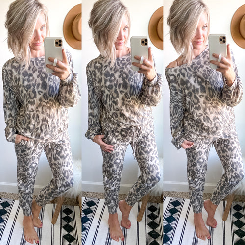 Leopard Lounge Set - Maple Row Boutique