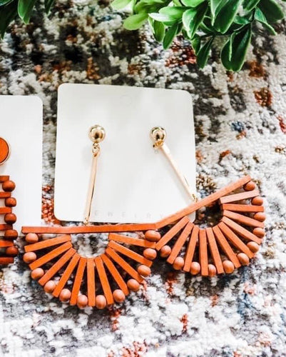 Boho Wooden Dangles - Maple Row Boutique