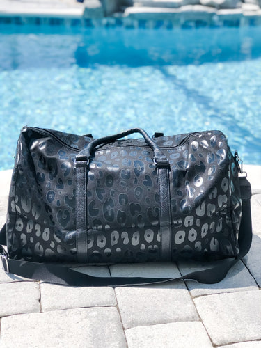 Matte Leopard Duffle Bag Preorder - Maple Row Boutique