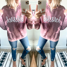 Load image into Gallery viewer, Bleached Blessed Sweatshirt - Maple Row Boutique